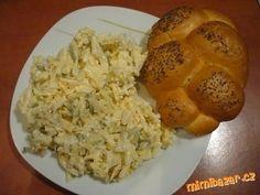 88 Sýrový salát (pomazánka) ze tří druhů sýra - výborný a hlavně rychlý Top Recipes, Cooking Recipes, Baked Potato, Ham, Salads, Food And Drink, Menu, Homemade, Chicken