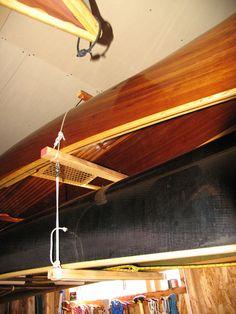 Double canoe hanger closeup