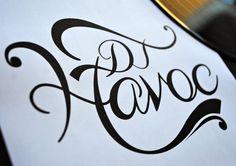 DJ Havoc logo design. www.facebook.com/harlancreative.