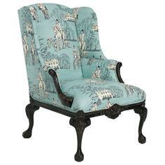 Concord Chair. Reminds me of Downton Abbey. Wish I loved horses because I am in LOVE with this teal / turquoise chair.