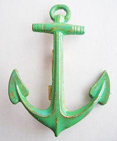 Green ENAMEL ANCHOR PIN