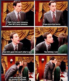 The Big Bang theory- Sheldon Amy kiss
