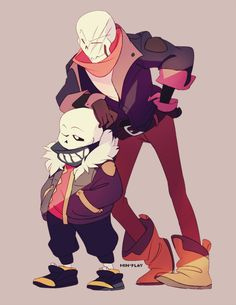 sans and papyrus - I heard that leaning on things make you look cooler.