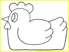 Poule de Pâques *3* gabarit tourné vers la gauche