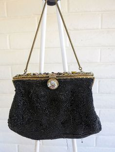 Beaded Vintage evening bag. 1940's by DustyDesert on Etsy
