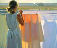Jeffrey T. Larson (1962-)  The Color Of Daylight  Oil on canvas  1999