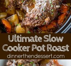 Ultimate Slow Cooker Pot Roast that leaves you with tender meat, vegetables and a built in gravy to enjoy them all with in just 15 minutes . Brown Gravy Recipe With Flour, Brown Gravy Recipe Beef Broth, Meatballs And Brown Gravy Recipe, Brown Gravy Recipe With Drippings, English Brown Sauce Recipe, Recipes Using Beef Broth, Easy Gravy Recipe, Beef Recipes
