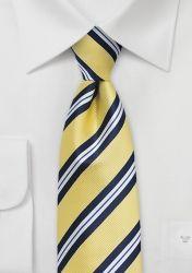 Krawatte gestreift hellgelb nachtblau günstig kaufen
