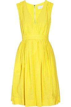 Adam Silk and cotton-blend full dress - 50% Off Now at THE OUTNET - StyleSays