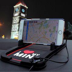 Mini Cooper Dashboard Non Slip Mobile Phone Stand USB GPS Mount