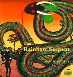 The story of the Rainbow Serpent, who made people turn into birds, animals and plants.