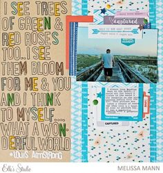 Melissa used our Jordan stamp sets to stamp a fun quote on her scrapbooking layout - such a fun way to customize your layout!
