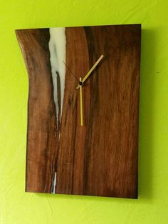 Modern wall clock  Rustic wall clock  Live by PANwoodenproducts