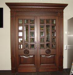 Double Door Design, Wooden Main Door Design, Door Design Images, Alpine House, Classic Doors, Wooden Front Doors, Wooden Swings, Unique Doors, Bedroom Doors