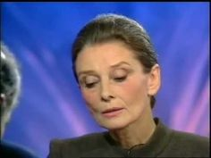 """Audrey Hepburn Interviewed on French Current Affairs TV Show """"Repéres"""" (...   Even in her mature years, what a beauty."""