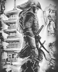 Samurai Tattoo Designs: A History Of War And Honor Japanese Tattoo Art, Japanese Tattoo Designs, Japanese Sleeve Tattoos, Japanese Art, Japanese Temple Tattoo, Japanese Warrior Tattoo, Samurai Tattoo Sleeve, Samurai Warrior Tattoo, Warrior Tattoos