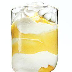 Limoncello Freeze (lemon curd, Limoncello, vanilla low-fat ice cream, vanilla meringue cookies)