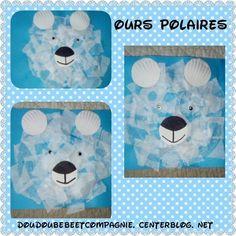 collage ours polaire blog doudou bébé et compagnie