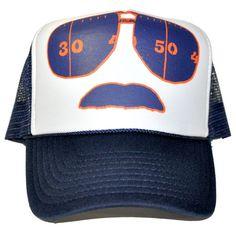 Trucker moustache cap