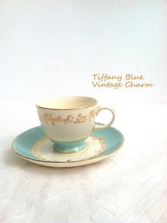 Vintage Gold Crown Footed Tea Cup and Saucer by MariasFarmhouse, $42.00