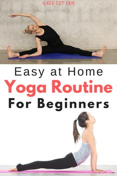 Want to try a daily yoga routine but have no idea where to begin? Try this easy yoga sequence for beginners at home to improve flexibility and lose weight. Did you know that yoga is great for weight loss because. Yoga Sequence For Beginners, Workout Routines For Beginners, Pilates Workout, Yoga Workouts, Relaxation Exercises, Morning Workouts, Stretching Exercises, Morning Yoga, Stretches