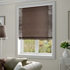 Velvet Crush Taupe Roman Blind