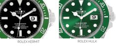Rolex Kermit vs Hulk | The Watch Club by SwissWatchExpo Rolex Submariner Green, Submariner Watch, Day Date President, Pre Owned Rolex, Bracelet Clasps, Kermit, Watch Case