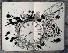 #168 I'm outta time by 365-DaysOfDoodles.deviantart.com on @deviantART