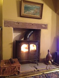 Warm and cosy fire