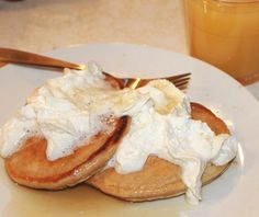 Beer Batter Pancakes with Butter Rum Syrup