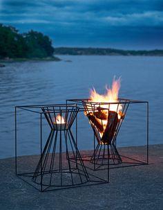 Open Central #outdoor #fireplace by Skargaarden
