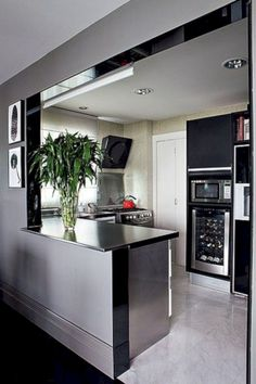 A Guide to Efficient Small Kitchen Design for Apartment Having limited space in an apartment doesn't mean you don't deserve a nice kitchen. See what a small kitchen design is all about. Small Apartment Kitchen, Small Space Kitchen, Small Spaces, Small Rooms, Small Apartments, New Kitchen, Kitchen Decor, Kitchen Ideas, Awesome Kitchen