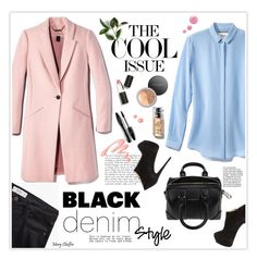 """""""Denim Trend: Black Jeans"""" by mcheffer ❤ liked on Polyvore featuring MANGO, Sigma Beauty, Chantecaille, Lancôme, Bare Escentuals, Giuseppe Zanotti, Givenchy, Topshop, women's clothing and women's fashion"""