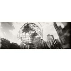 Steel globe Columbus Circle Manhattan New York City New York State USA Canvas Art - Panoramic Images (30 x 12)