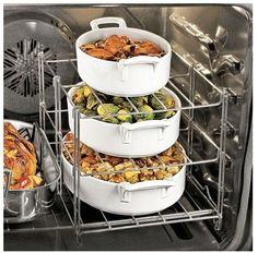 Oven Rack-makes space for multiple courses