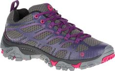 Womens Merrell Moab Edge Hiking Shoe - Grey - FREE Shipping & Exchanges | Shoebuy.com