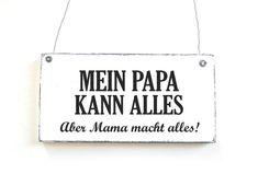 PAPA KANN ALLES Dekoschild Türschild Shabby  von DöRPKIND auf www.doerpkind.de: