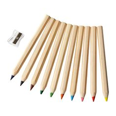 IKEA - MÅLA, Colored pencil, , The pencils are water-soluble, so with a wet brush your child can blend colors in their drawing for creative results.The pencils are designed to fit comfortably in children´s hands, so they can draw with ease.