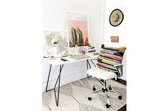 10 propuestas para decorar un escritorio femenino - Living - ESPACIO LIVING