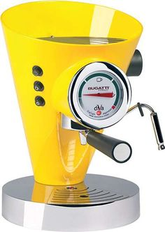 The Bugatti Diva Espresso Coffee Machine Yellow is suitable for both freshly ground coffee or ESE pods. Bugatti have combined striking design and the best technology available to create the Diva espresso maker. Machine A Cafe Expresso, Espresso Coffee Machine, Coffee Maker, Coffee Shop, Coffee Club, Coffee Company, Coffee Lovers, Cappuccino Maker, Cappuccino Machine