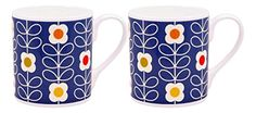 2 x Orla Kiely Linear Stem Mugs - Blue Orla Kiely, Mugs, Free Delivery, Tableware, Blue, Ebay, Amazon, Garden, Kitchen