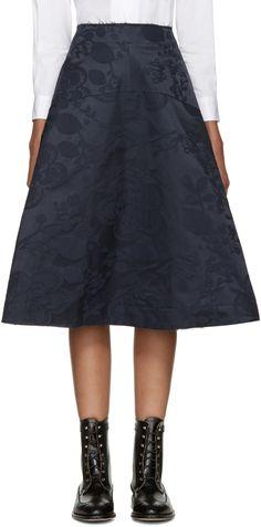 Comme des Garçons - Navy Floral Skirt