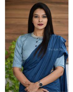 Simple Blouse Designs, Stylish Blouse Design, Sari Blouse Designs, Blouse Patterns, Blouse Styles, Trendy Sarees, Stylish Sarees, Cotton Saree Designs, Formal Saree