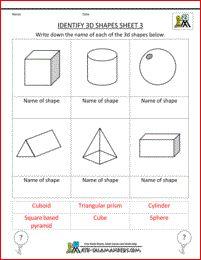 3d shapes, printable   3d shapes   Pinterest   3d shapes