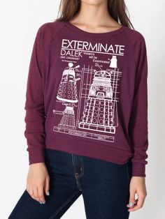 Dalek Exterminate Weight Raglan Pullover american by GeekyU1, $39.89