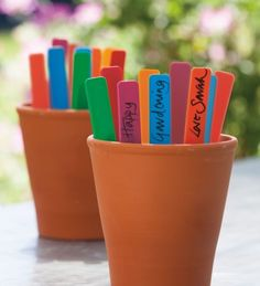 Use a bundle of these colourful plant labels to sort and label your plants and seedlings by colour. The pack of 50 contains 10 each of the following colours: Red, Yellow, Green, Blue & Purple.
