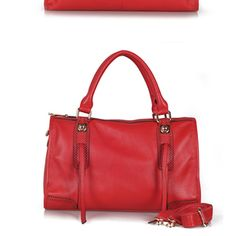 Soft red leather Michele tote from Giselle