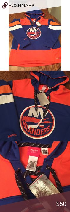 NWT Islanders XP NHL Hoodie •New with Tags! •100% Polyester  👾NO TRADES 👾OFFERS WELCOMED! 👾BUNDLE TO SAVE  👾FEEL FREE TO ASK ANY QUESTIONS Reebok Shirts Sweatshirts & Hoodies