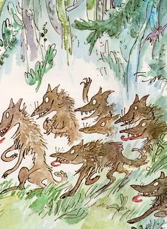 Beatrice and Vanessa story by John Yeoman, illustrated by Quentin Blake (1974).