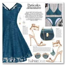 """teal (twinkledeals 104)"" by myduza-and-koteczka ❤ liked on Polyvore featuring Anja, Chloé, Napoleon Perdis and vintage"